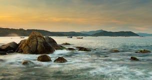 Rocky Coastline Bay Vietnam Stock Photo