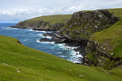 Rocky coastline with bays. Sutherland, Scotland, Great Britain Royalty Free Stock Image