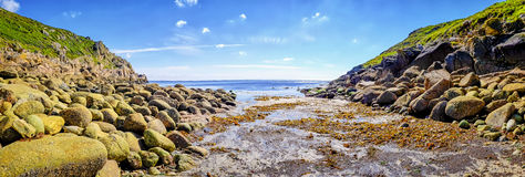 Rocky Coastline Beach,  Cornwall, England Royalty Free Stock Images