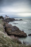Rocky coastline in Biarritz, Pays Basque, France Royalty Free Stock Image
