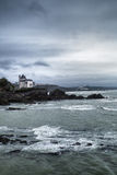 Rocky coastline in Biarritz, Pays Basque, France Stock Image