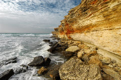 Rocky coastline of Black Sea Royalty Free Stock Images
