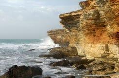 Rocky coastline of Black Sea Royalty Free Stock Photo