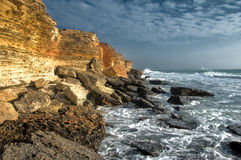 Rocky coastline of Black Sea Royalty Free Stock Photos
