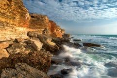 Rocky coastline of Black Sea Stock Photo