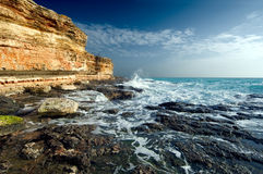 Rocky coastline of Black Sea Stock Images