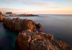 Rocky coastline of Black Sea Stock Photos
