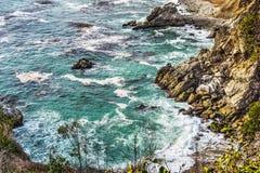 Rocky coastline in Bug Sur state park Stock Photos