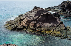 Rocky coastline on Canary Island Tenerife, Spain royalty free stock images