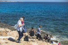 Rocky coastline , Cape Greco on Cyprus Stock Image