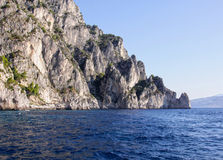 Rocky Coastline of Capri Royalty Free Stock Photos