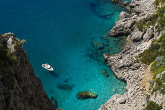 Rocky coastline, Capri island (Italy) Royalty Free Stock Photography