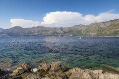 Cavtat rocky coastline royalty free stock photography