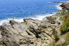 A rocky coastline Royalty Free Stock Photography