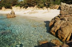 Rocky coastline in Corsica Royalty Free Stock Photo