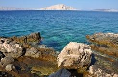 Rocky coastline in Croatia Stock Images
