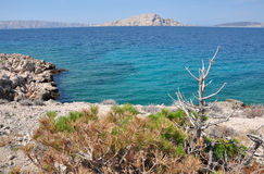 Rocky coastline in Croatia Stock Image