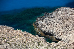 Rocky coastline on Cyprus. Royalty Free Stock Photography