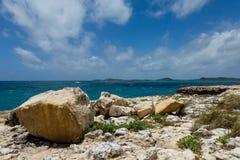 Rocky Coastline at Devil's Bridge Antigua Royalty Free Stock Image