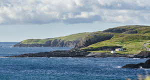 Rocky coastline in Elliston village along the coast fingers of the Island of Newfoundland, Canada. Stock Photos