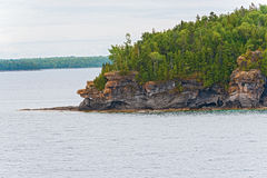 Rocky coastline on Georgian Bay, Ontario Canada Stock Photo