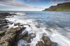 Rocky coastline The Giants Causeway Stock Photos
