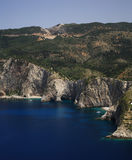 Rocky coastline of Kefalonia Royalty Free Stock Image