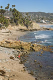 Rocky Coastline, Laguna Beach California Stock Images