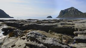 Rocky coastline on Lofoten Islands, stock footage