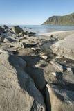 Rocky coastline on Lofoten Islands, Norway Stock Images