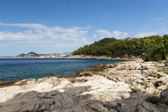 Rocky coastline at the Lokrum Island Royalty Free Stock Images
