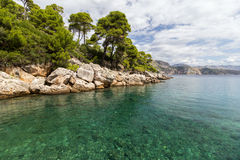 Rocky coastline at the Lokrum Island Stock Image