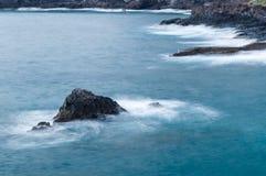 Rocky coastline of Los Gigantes, Tenerife Stock Image