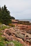 Maines rugged rocky coastline