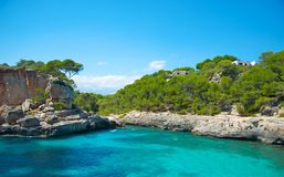 Rocky coastline of Majorca Royalty Free Stock Photos