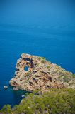 Rocky coastline of Majorca Royalty Free Stock Images