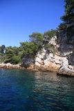 Rocky coastline on the Mediterranean Sea Royalty Free Stock Photos