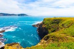 Rocky Coastline Mendocino Bay Cliffs Ocean H Royalty Free Stock Photos