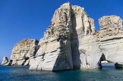 Rocky coastline in Milos island, Cyclades, Greece Stock Photo