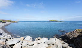 Rocky coastline at Moelfre, Anglesey Royalty Free Stock Image