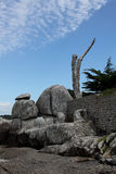 Rocky Coastline, Near Concarneau, Brittany Royalty Free Stock Image