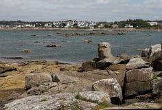 Rocky Coastline, Near Concarneau, Brittany Stock Photography
