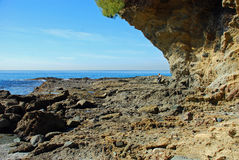 Rocky coastline near Crescent Bay, Laguna Beach, California. Stock Images
