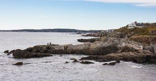 Rocky Coastline of Maine royalty free stock photo