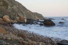 Rocky Coastline in Neu-England Lizenzfreie Stockfotografie