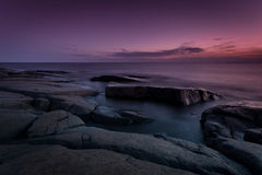 Rocky coastline night Royalty Free Stock Image