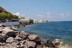 Rocky coastline, Nisyros island Royalty Free Stock Images