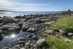 Rocky coastline Nort Ireland landscape Royalty Free Stock Images