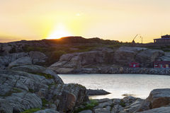 Rocky coastline in Norway Stock Photography