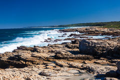 Rocky Coastline Ocean Blue  Royalty Free Stock Image